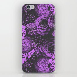 Moody Florals in Purple iPhone Skin