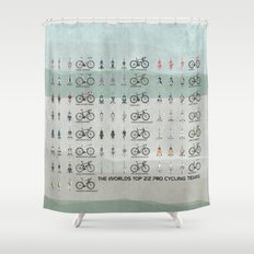 Pro Cycling Teams Shower Curtain