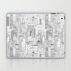 City Doodle (white) Laptop & iPad Skin