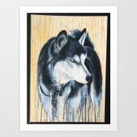 Wolf Spill Art Print