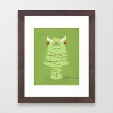 Holiday Monster Framed Art Print
