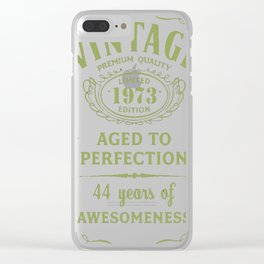 Green-Vintage-Limited-1973-Edition---44th-Birthday-Gift Clear iPhone Case