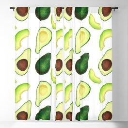 Avocado pattern // Watercolor style avocado decor // Avocado lover Blackout Curtain