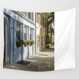 Charleston SC No. 4  Rainbow Row Wall Tapestry