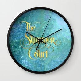 The Summer Court Wall Clock