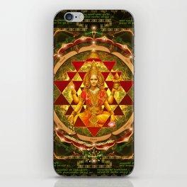 Shri Yantra- Maha Lakshmi Ashtakam- Abundance iPhone Skin