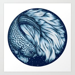 Old Blue Soul Art Print