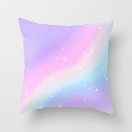 Kawaii Rainbow Magic Throw Pillow