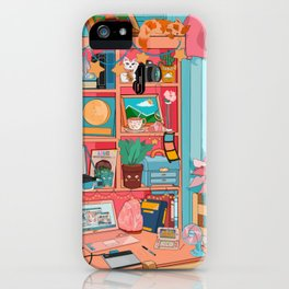 the artist's desk iPhone Case