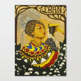 The Iban Girl Canvas Print