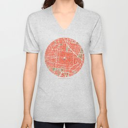 Mexico city map classic Unisex V-Neck