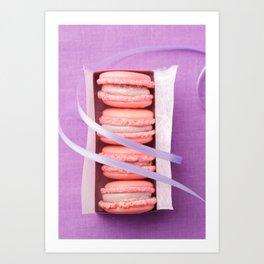 Pink macarons Art Print