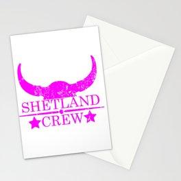 Shetland crew wild west emblem pink Stationery Cards