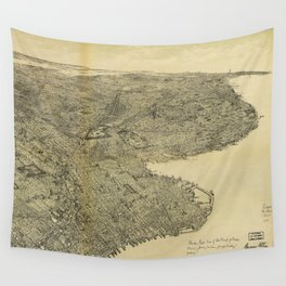 The Borough of Brooklyn, New York (1897) Wall Tapestry