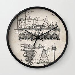 Brewing Beer Patent - Beer Art - Antique Wall Clock