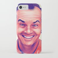 jack nicholson iPhone & iPod Cases featuring Young Jack Nicholson and the evil smile - digital painting by Thubakabra