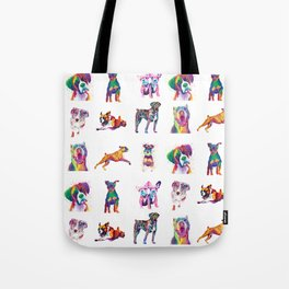 Rainbow Dogs Everywhere Tote Bag