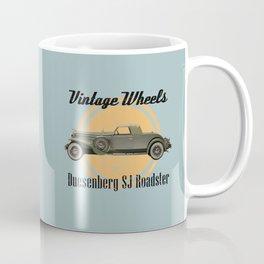 Vintage Wheels: Duesenberg SJ Roadster Coffee Mug