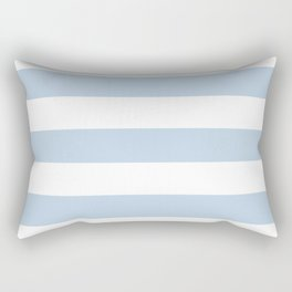 Beau blue - solid color - white stripes pattern Rectangular Pillow