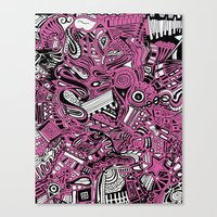 bubblegum Canvas Prints featuring BubbleGum by DuckyB