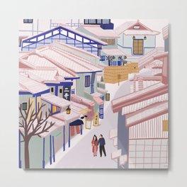 Old Town Kyoto Metal Print