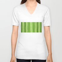 lime green V-neck T-shirts featuring Ambient 3 in Lime Green by Bruce Stanfield
