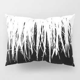 Fringe White on Black Pillow Sham