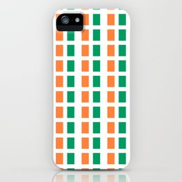flag of ireland 2-ireland,eire,airlann,irish,gaelic,eriu,celtic,dublin,belfast,joyce,beckett iPhone Case