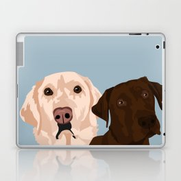 2 Labradors Laptop & iPad Skin