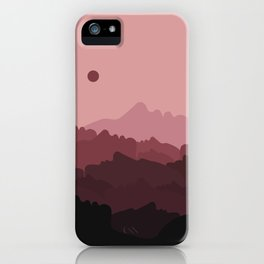 Love Mountain Range iPhone Case