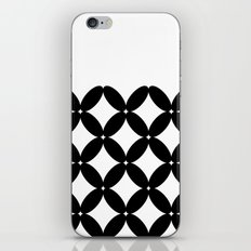 Abstract pattern - black and white. iPhone Skin