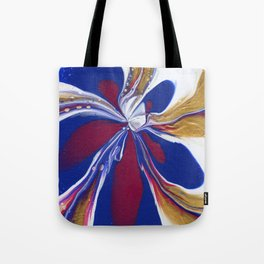 Floral Fluidity - Abstract, acrylic, fluid, painting Tote Bag