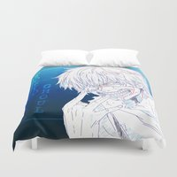 tokyo ghoul Duvet Covers featuring Tokyo Ghoul  by Neo Crystal Tokyo