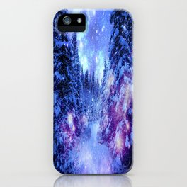 Mystical Snow Winter Forest iPhone Case
