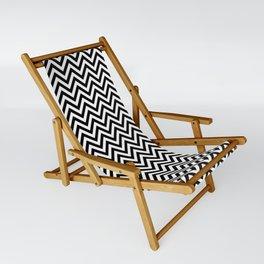 Black and White Chevron Sling Chair