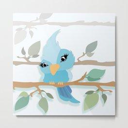 Baby Sparrow Metal Print