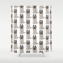 Cute Briard Cartoon Dog Shower Curtain