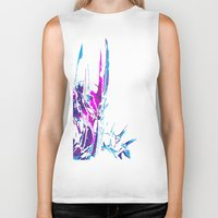 the lord of the rings Biker Tanks featuring Lord of the Rings: Splatter Sauron by Fiona Ng