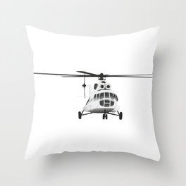 Russian Mi-8 Helicopter Throw Pillow