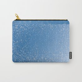 Melting snow spots blue sky Carry-All Pouch