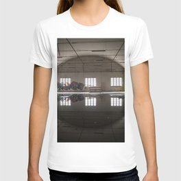 Interior of an abandoned factory T-shirt