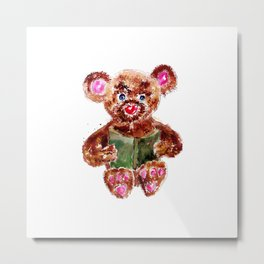 Painted Teddy Bear Metal Print