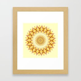 Golden Star Mandala Framed Art Print