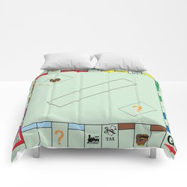 Monopoly Print Currency Game Comforters