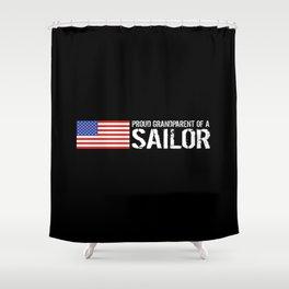 Proud Grandparent of a Sailor Shower Curtain