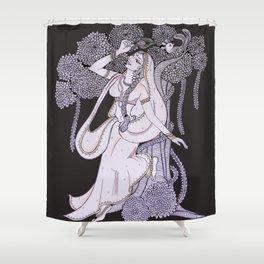 Radharani-Feel of devine love Shower Curtain