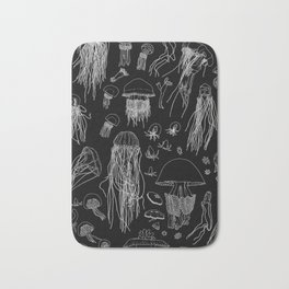 Jellies (Black) Bath Mat