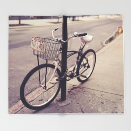 Bicycles of New York City Throw Blanket