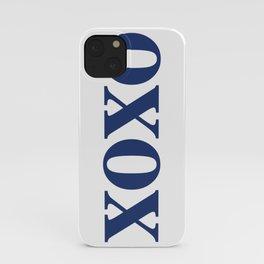 Navy XOXO iPhone Case