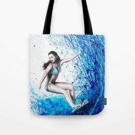 Thoughts and Waves Tote Bag